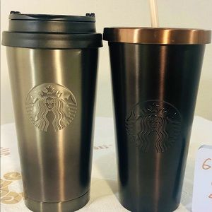 Starbucks SS tumbler and cold cup